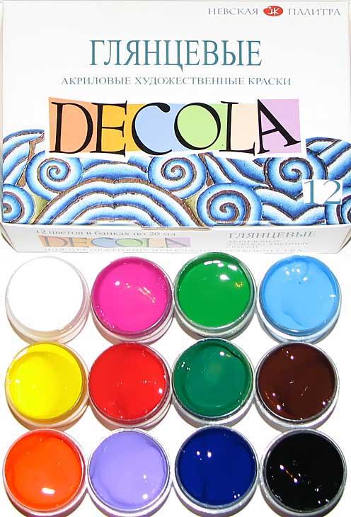 Акриловые краски DECOLA