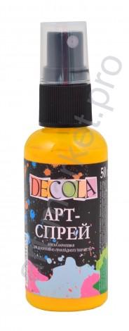 Краска-спрей акриловая «Decola» Арт-спрей Желтая средняя