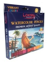Карандаши акварельные цветные LOKSS 72 цвета