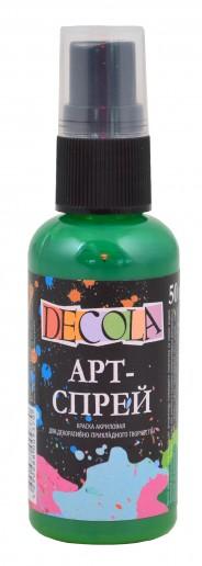Краска-спрей акриловая «Decola» Арт-спрей Зеленая средняя