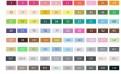 Цветовая палитра набора 80 цветов