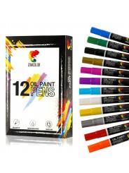 Масляные маркеры  ZENACOLOR набор 12 цветов