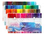 Набор двусторонних маркеров FineLiner / Brush Markers Pens 60 цветов