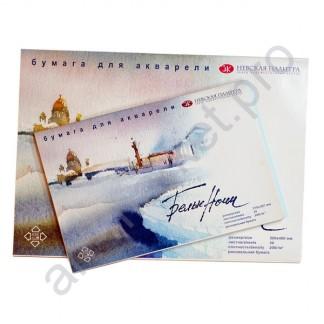 Альбом-склейка для акварели «Белые ночи» А3, 200гр, 20 листов