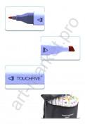 Маркеры для скетчинга Touchfive.  Дизайн интерьера, 60 цветов