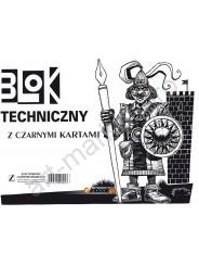 Склейка для рисунка (Blok Techniczny) А4, 10л., Черные листы, Kreska