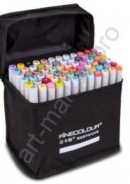 Маркеры для скетчинга  FINECOLOUR 72 цвета. Набор для дизайна