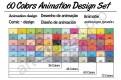 60 цветов. Набор для анимации и дизайна