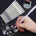 Ручка гелевая белая TOUCHNEW 0.8 mm