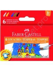 Гуашь темперная Faber Castell 6 цветов по 15 мл