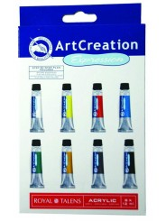 Набор акриловых красок Art Creation, 8 цветов