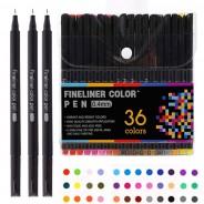 Набор цветных линеров Worison 36 цветов профессиональный набор для скетчей