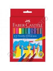 Фломастеры Faber-Castell Feltip 12 цветов