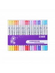 Набор двусторонних маркеров STA Aquarelle Brush 36 цветов