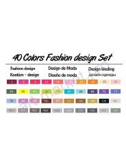 """Эскиз-маркеры """"Touchfive"""" Набор для дизайнеров одежды 40 цветов"""