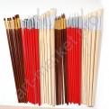 Профессиональный набор кистей для рисования 38 шт. в тканевом футляре