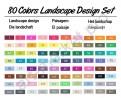 Маркеры TOUCH FIVE 80 цветов. Ландшафтный дизайн