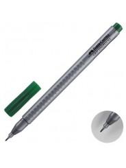 Ручка капиллярная Faber-Castell Grip Finepen 0,4 мм зеленый