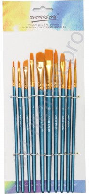 """Набор кистей для рисования из синтетики """"WORISON"""" 10 штук"""