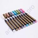 Набор маркеров для рисования. Цвета металлик (10 штук)