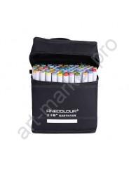 Маркеры для скетчинга FINECOLOUR 48 цветов. Набор для анимации и дизайна