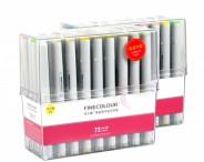 Спиртовые маркеры «FINECOLOUR» 72 цвета