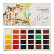 Набор акварельных красок Сонет 24 цвета Кювета