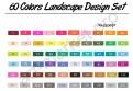 Маркеры для скетчинга TOUCHFIVE  60 цветов. Ландшафтный дизайн