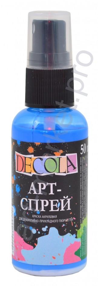 Краска-спрей акриловая «Decola» Арт-спрей Небесно-голубая