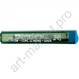 Грифели для карандашей Faber Castell НВ блистер 0,7 мм
