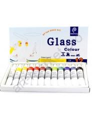 Набор акриловых красок для росписи стекла 12 цветов