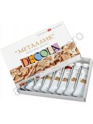 Набор акриловых красок DECOLA металлик