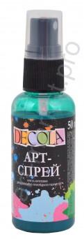 Краска-спрей акриловая «Decola» Арт-спрей Изумрудная 50 мл.