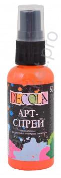 Краска-спрей акриловая «Decola» Арт-спрей Оранжевая