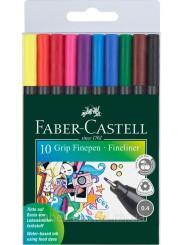 Набор цветных линеров  Faber Castell Grip Finepen 0,4 мм, 10 цветов