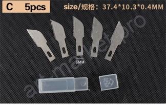 """Набор лезвий для макетного ножа 5 шт. Тип """"C"""""""