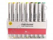 Спиртовые маркеры «FINECOLOUR» 36 цветов