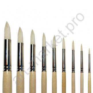 """Кисть щетина """"Сонет"""" круглая, длинная ручка, № 10, Ø11 мм"""