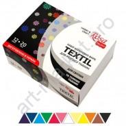 Набор акриловых красок для росписи тканей 12 цв 20мл ROSA