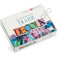 Акриловые краски по ткани Decola, набор 12 цветов 20 мл