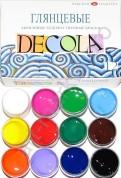 Набор акриловых красок 'Decola' глянцевый 12 цветов