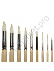 """Кисть щетина """"Сонет"""" круглая, длинная ручка, № 6, Ø8 мм"""