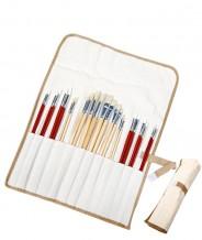 Профессиональный набор кистей для рисования 24 шт. в тканевом футляре