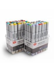 Спиртовые маркеры «FINECOLOUR» 48 цветов