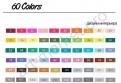 Набор маркеров  Touchnew  60 цветов для интерьерного скетчинга