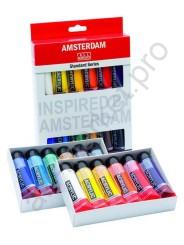Краски акриловые Amsterdam набор 12 цветов
