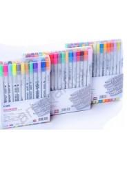 Набор  двусторонних маркеров для скетчинга STA 24 цвета