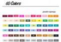 Маркеры для скетчинга «Touchnew» 60 цветов. Набор для дизайнеров одежды