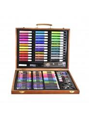 Набор для детского творчества в деревянном кейсе на  150 предметов
