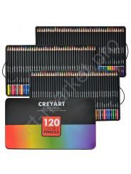 Подарочный набор цветных карандашей в металлической коробке ( 120 цветов)